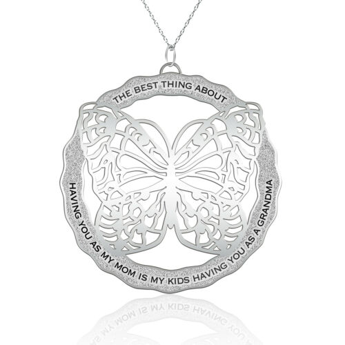 Butterfly Pendant For Mom Grandma Mothers Day Necklace Butterfly Gifts for Women