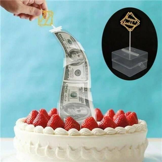 Phenomenal Cake Atm Surprise Birthday Cake Topper Money Box Funny Cake Atm Birthday Cards Printable Trancafe Filternl