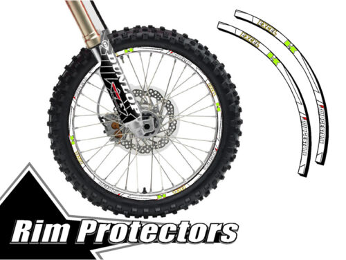 16 /& 19 INCH DIRT BIKE RIM PROTECTORS WHEEL DECALS TAPE GRAPHICS MOTORCYCLE