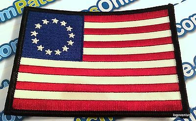 AMERICAN FLAG EMBROIDERED PATCH iron-on US BETSY ROSS REVOLUTIONARY WAR 1776
