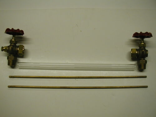 "Boxed HVAC Boiler Sight Gauge Glass Valve Kit 1//2/"" NPT 5//8/"" X 12/"" Glass W Drain"