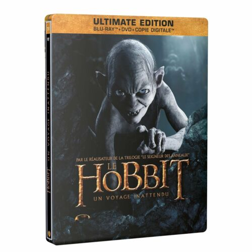 THE HOBBIT - STEELBOOK  BLU RAY + DVD + DIGITAL COPY (3 DISC ULTIMATE EDITION)