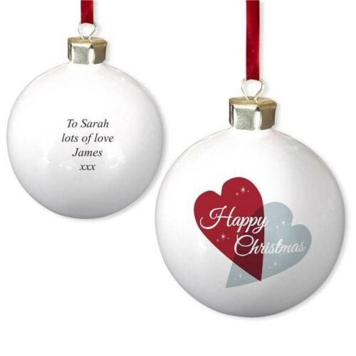 PERSONALISED OUR FIRST CHRISTMAS Tree BAUBLE Gifts for my Wife Husband Novelty