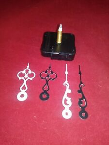 DIY-Wall-Clock-Parts-1-25-034-Battery-Operated-Movement-Mechanism-Black-White-Hands
