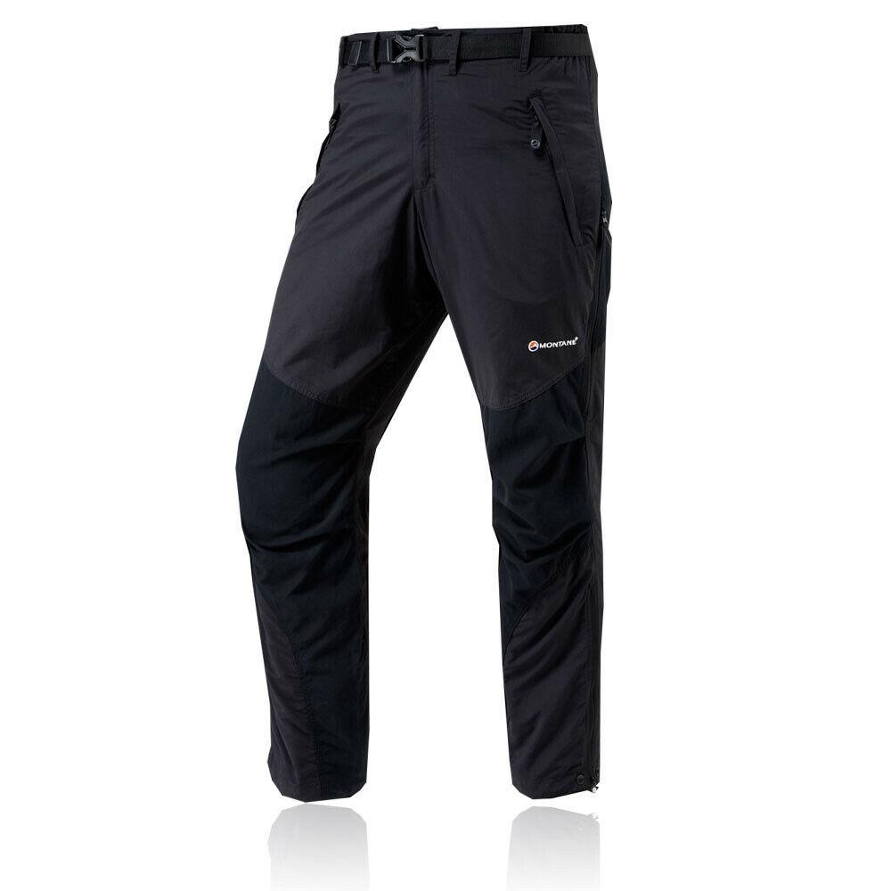 Montane Mens Terra Black TACTEL Water Resistant Long Leg Outdoor Bottoms Pants