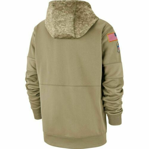 NFL San Francisco 49ers Football Hoodie 2019 Salute to Service Sideline Pullover