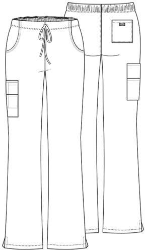 Dickies Scrubs Mid-Rise Women/'s Cargo Pants 86206 Black BLWZ Dickies EDS