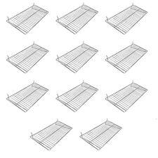 24 X 12 Chrome Pegboard Wire Flat Grid Shelf Shelves Retail Display 10 Pc