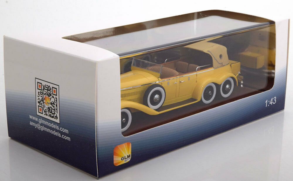 HISPANO SUIZA H6A VICTORIA TOWN CAR CLOSED 1923 YELLOW GLM GLM GLM 43215001 1/43 RESINE | Finement Traité  38817a