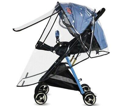 S M L Waterproof Baby Stroller Rain Cover Wind Dust Shield Canopy Pushchair
