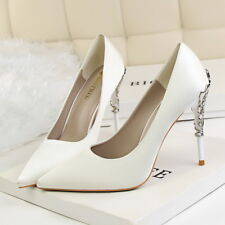 7893e50c65ed item 7 Women Pumps Pointed Toe Stilettos Slip On High Heel Party Shoes US7   CN 38 White -Women Pumps Pointed Toe Stilettos Slip On High Heel Party  Shoes US7 ...
