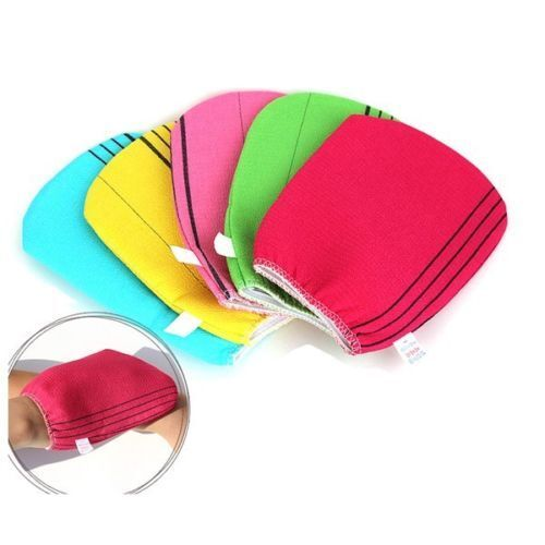 Korean Exfoliating Body-Scrub Towel Bath Massage Italy Sauna Pillow /&  5P Set