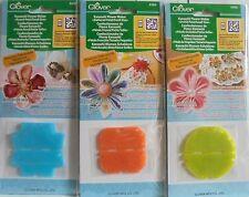 Clover KANZASHI 3 Fabricantes De Flores-Redondo, reunido & Orchid Pétalo-tamaños pequeños