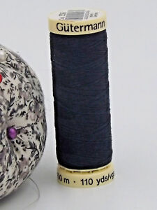 GUTERMANN-Sew-All-Thread-100-Polyester-100m-NAVY-BLUE-339