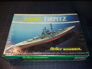 Maquette-vintage-Heller-Humbrol-1-2000-Scale-Tirpitz-n-80052-neuf-scellee-TBE