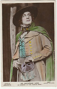 Vintage-RP-POSTCARD-of-ACTOR-MR-MATHESON-LANG-as-Armand-in-The-Purple-Mask-1921