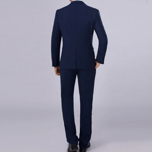 2PCS Men/'s Formal Slim Fit Suit Tuxedo Wedding Groom Blazer Coat Pants Trousers