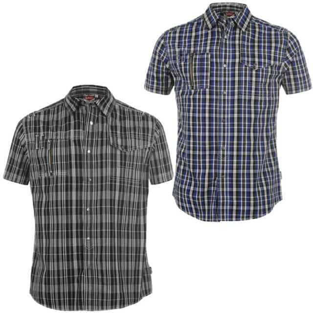 Lee Cooper Herren Freizeithemd S M L XL 2XL Hemd kurzarm Sommer neu