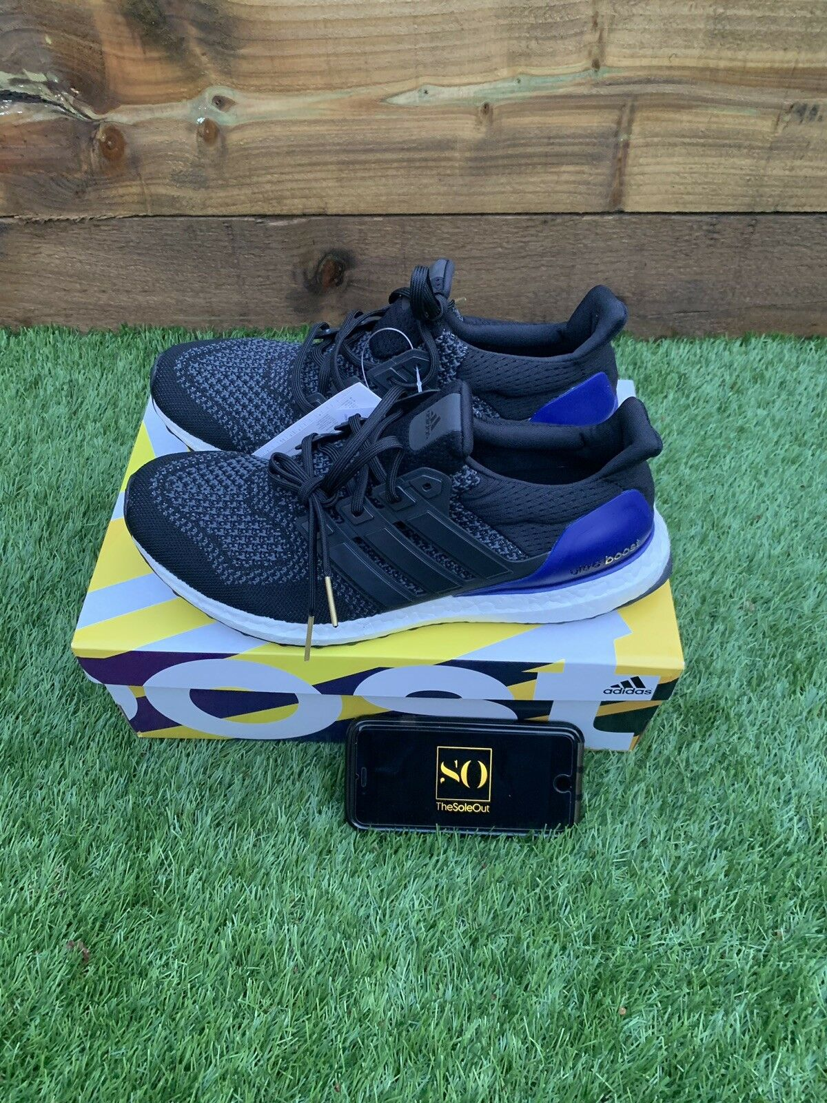 Adidas Ultra Boost OG 1.0 Black Purple UK 9.5