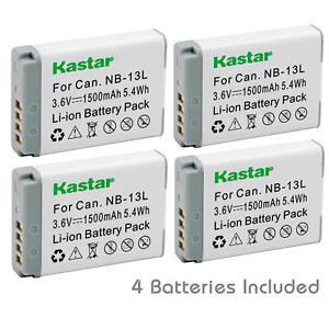 2PCS NB-13L Batería para Canon PowerShot SX620 HS SX720 HS SX740 HS SX730 HS