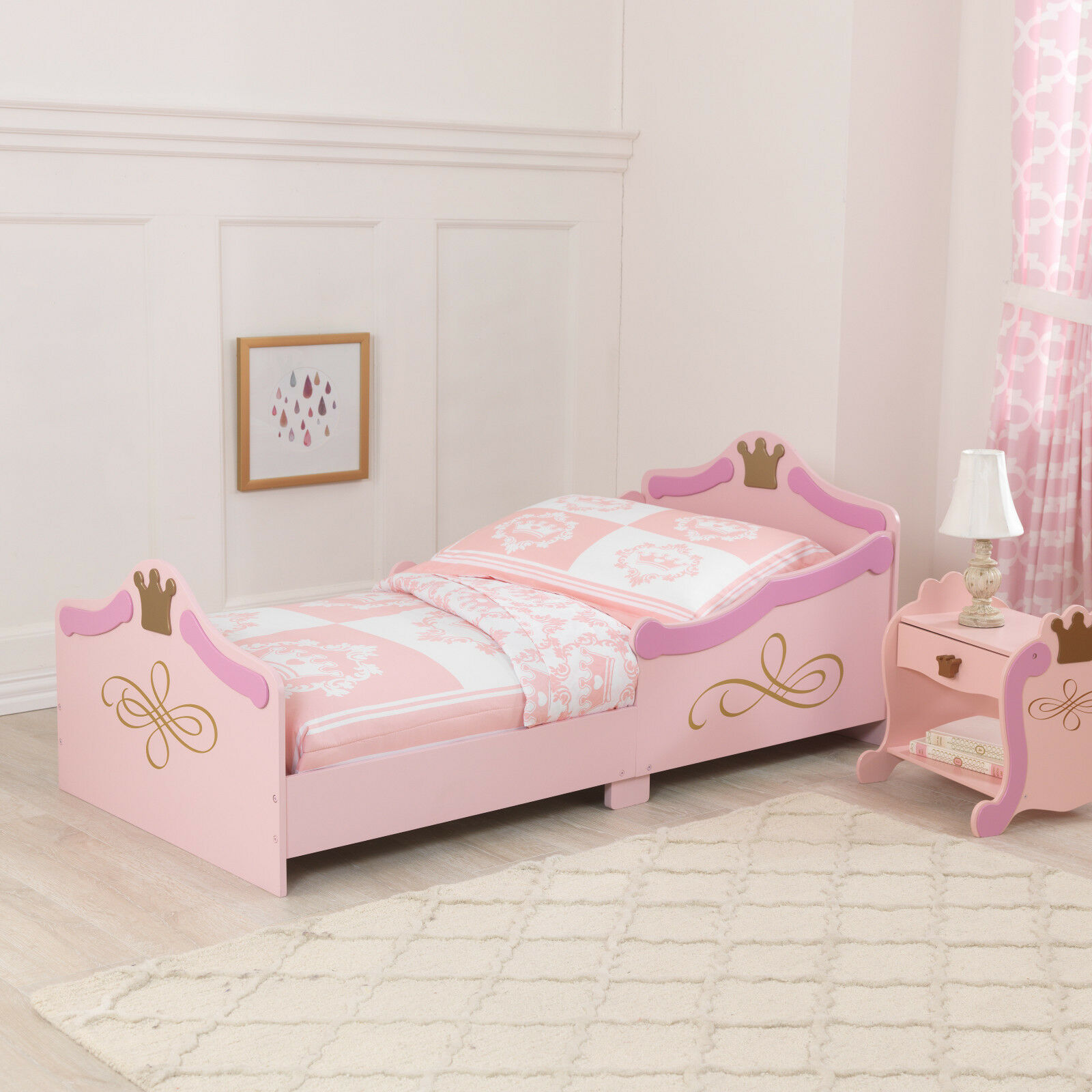 Kidkraft Princesse Toddler Bed-Filles Premier Lit Cotbed Taille Base