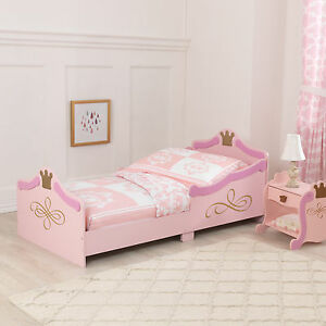 Image Is Loading Kidkraft Princess Toddler Bed Girls First Cotbed
