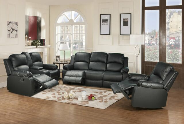 Prime Bonded Leather 3 Piece Recliner Set Sofa Loveseat And Chair Pabps2019 Chair Design Images Pabps2019Com