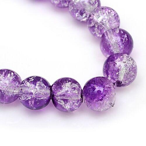 Crujido de vidrio violeta 6mm X 133 granos