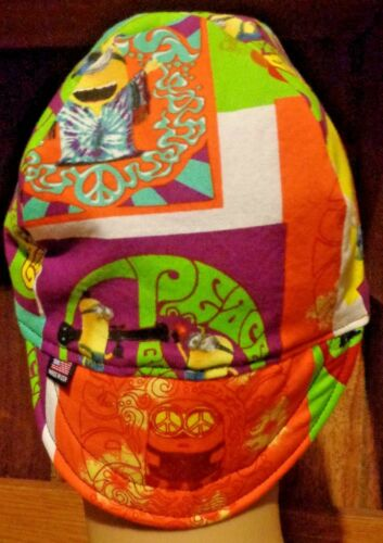 Minions 70/'s Handmade 100/% cotton Biker Welding Pipe-fitter,4 panel hat