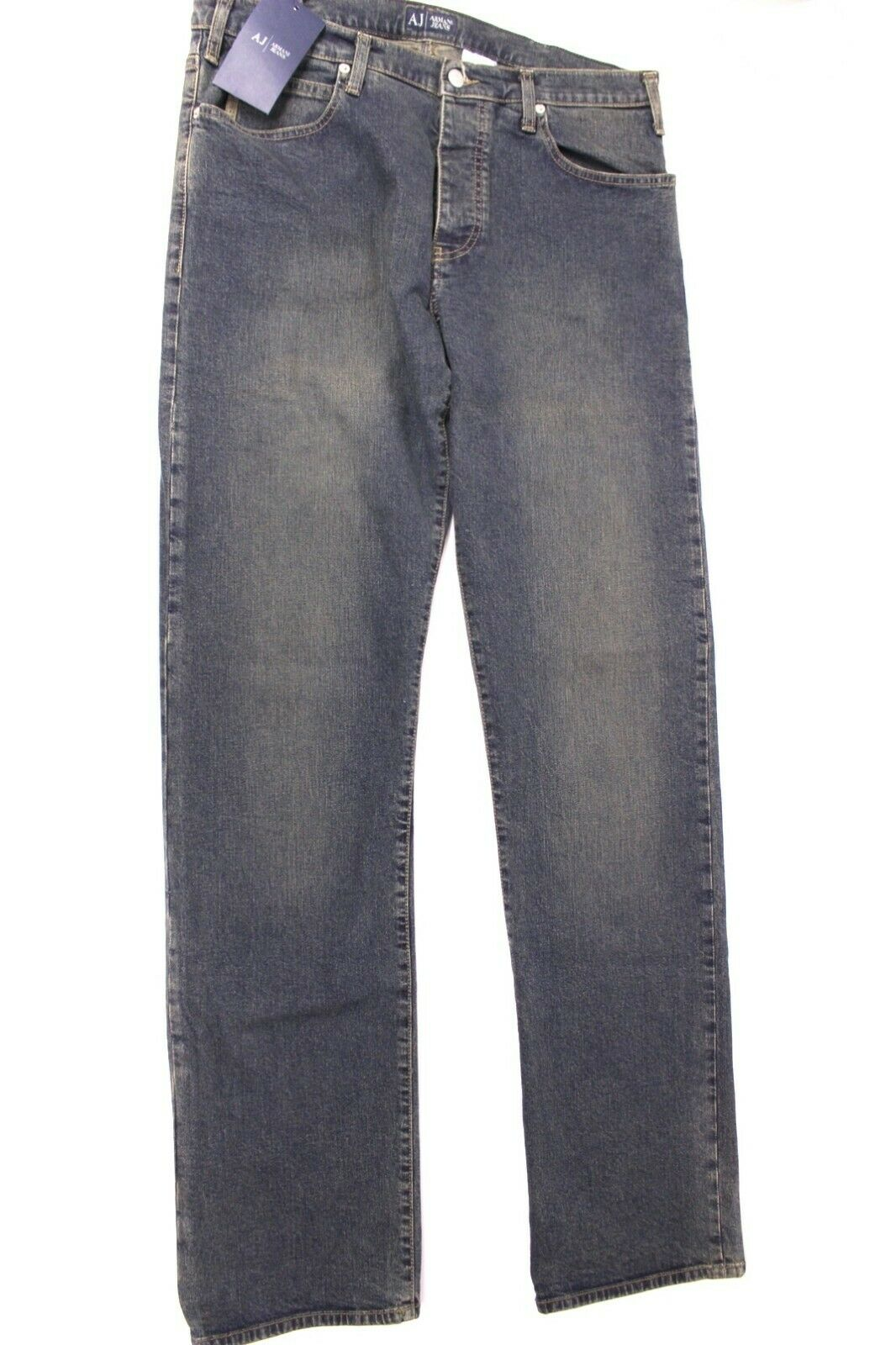 Armani Herren Jeans J21 Gr. 34 Blau Regular Waist Regular Stiefel Leg Comfort Fit