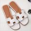 Ladies Punk Peep Toe Flat Slippers Mules Roma Sandals Shoes Flip flops grace hot