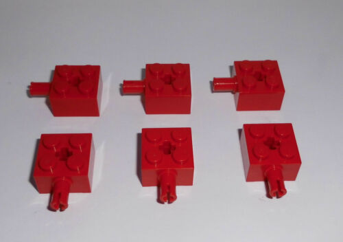 2x2x1 mit Pin Lego in rot aus 9650 10019 7685 Kreuzloch 6 Basicsteine 6232