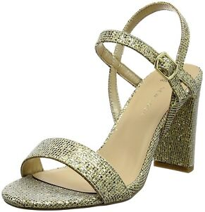 d8fd4b0ac806 New Look Size 3 6 7 Wide Fit Gold Glitter Mid High Heel Strappy ...