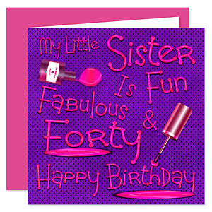 Image Is Loading My Little Sister Happy Birthday Card Age Range