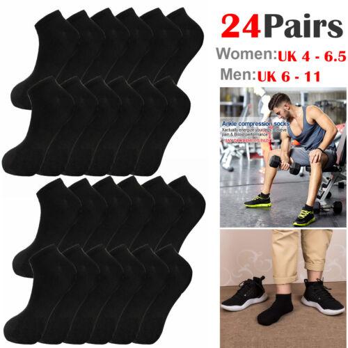 6 X Pairs Men Ladies Fresh Feel Sport Max Cushioned Trainer Liner Socks 4-7 6-11