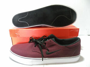 f5c9a5bee7d0 NIKE SB CLUTCH LOW CANVAS SKATEBOARD MEN SHOES MAROON 729825-600 ...