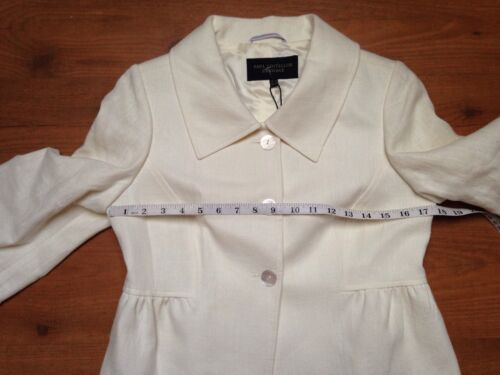 S £ Ladies Dressage Rrp Lino Cropped Paul 8 Jacket 239 Bnwt Ivory 36 Costelloe 8wq7UxUZA