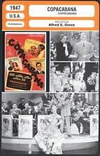 COPACABANA - G.Marx,C.Miranda (Fiche Cinéma) 1947