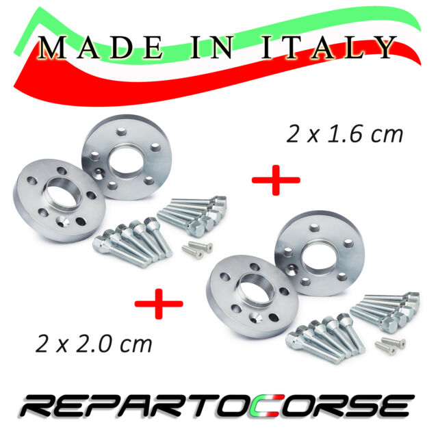 KIT DE 4 ESPACIADORES 16 + 20mm REPARTOCORSE para JEEP COMPASS MX MADE IN ITALY