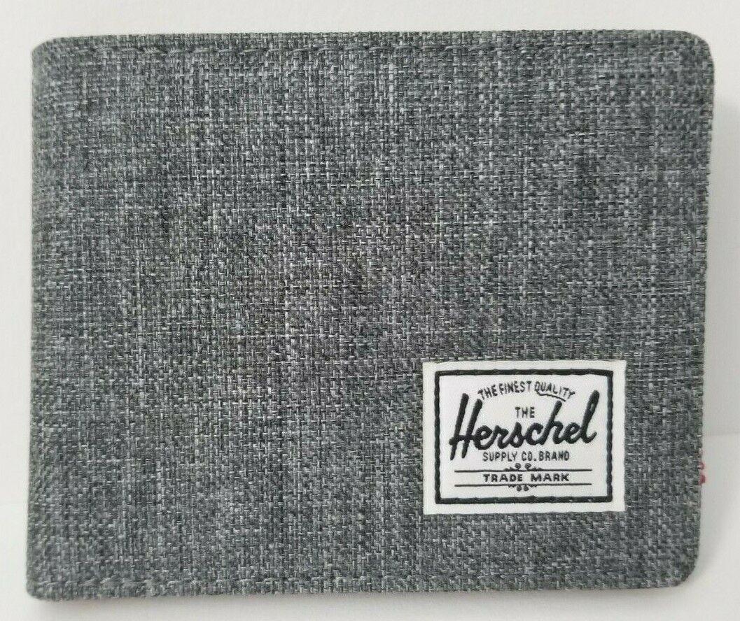 Herschel Supply Co Men's Roy RFID Wallet Raven Crosshatch - Free Shipping