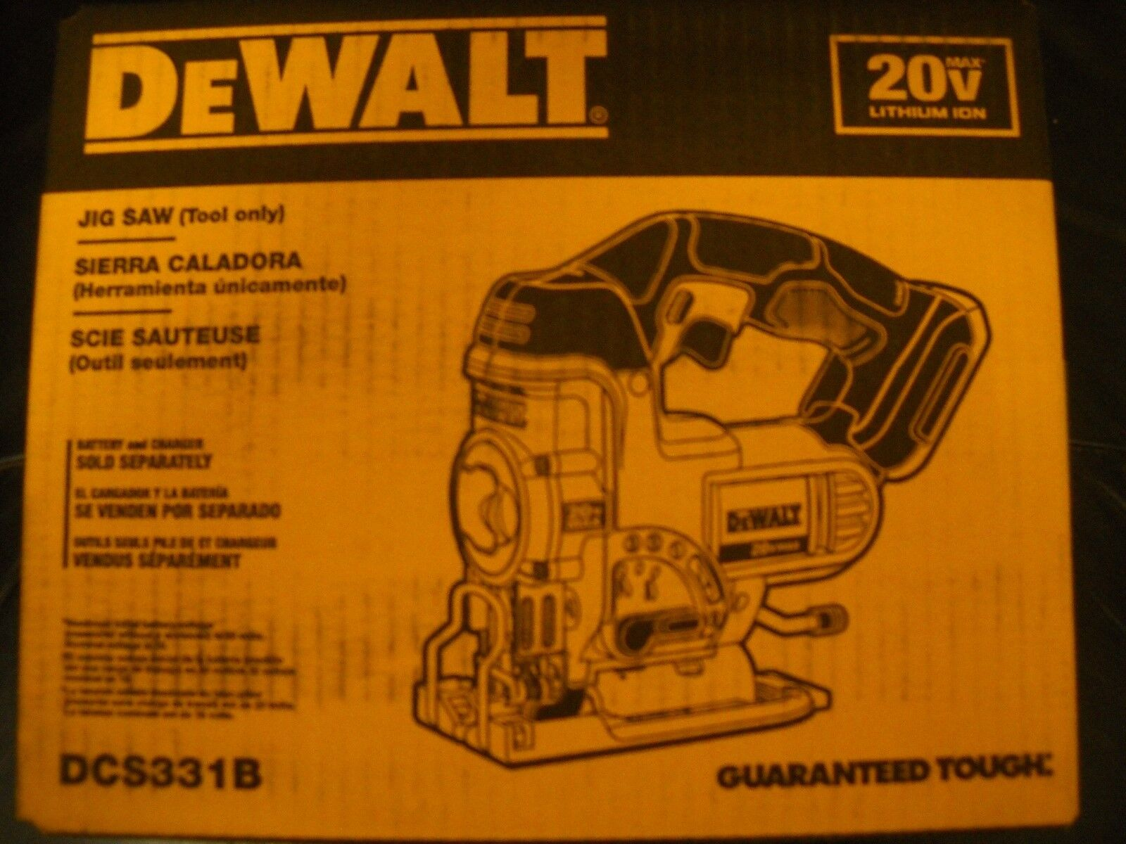 DeWALT DCS331B 20V 20 Volt Max Lithium-Ion Cordless Jig Saw Tool New in Box