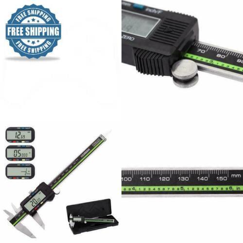 Large LCD Screen Digital Caliper Stainless Steel 6 in Measuring Tool Micrometer