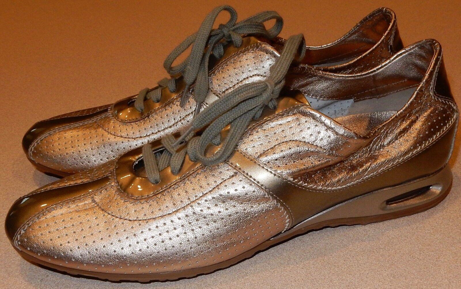 Cole Haan Sneaker Gold Lace Up Damenschuhe Schuhes Größe 9B