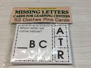 MISSING-LETTERS-Cards-for-Learning-Center-52-Cards-Letters-Teaching-supplies