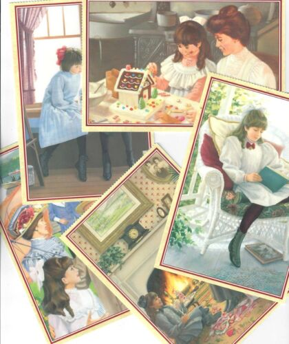 PLEASANT COMPANY SAMANTHA POSTCARDS AMERICAN GIRL! LOT OF FIVE RETIRED 1996