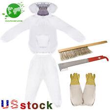 New Professional Beekeeper Suit Include Jacket Pants Gloves Scraper Brush
