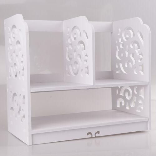 Tabletop Desktop Organiser Home Office Book Case Stationary Holder Storage
