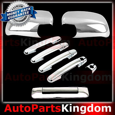 05-14 TOYOTA TACOMA Triple Chrome plated 2 Door Handle+Tailgate no Camera Cover