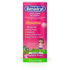 Image Is Loading Children 039 S Benadryl Dye Free Allergy Liquid