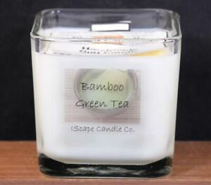 IScape-Scented-Bamboo-Green-Tea-11-Oz-Square-Jar-Wood-Wick-Soy-Candle